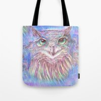 Vivid Owl Tote Bag