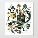 Little Black Magic Rabbit Canvas Print