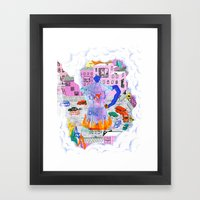 Coffee & City Framed Art Print