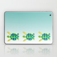 Swimming Baby Sea Turtles Laptop & iPad Skin