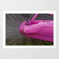 Amsterdam in Pink Art Print
