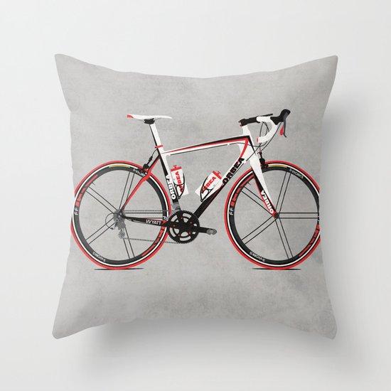 Race Bike Throw Pillow