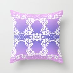 Leaves on Rose Powder Throw Pillow