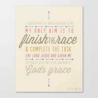 Acts 20:24 Canvas Print