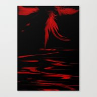Feathers Red Canvas Print