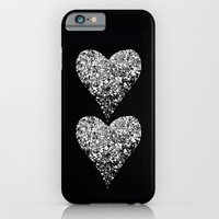iPhone & iPod Case featuring two sparkling hearts by Marianna Tankelevich