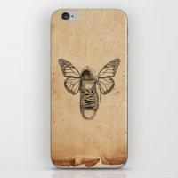 iPhone & iPod Skin featuring Flying sneakers by VitaliGisko