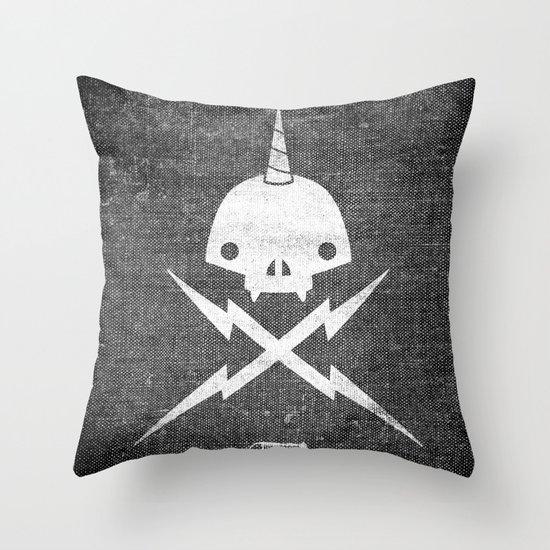 Yeticorn Skull & Bolts Throw Pillow