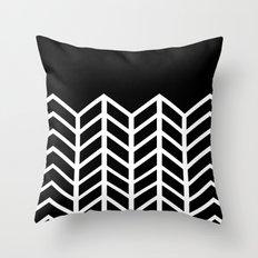 BLACK LACE CHEVRON Throw Pillow