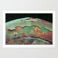 Green and Rust Art Print