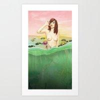 Lily Du Lac Art Print