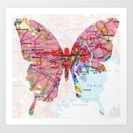 Art Print featuring Papillon - Tokio by Steffi Louis