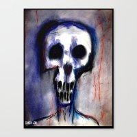 Grimly Canvas Print