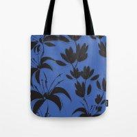 Black And Dark Blue Nigh… Tote Bag