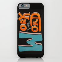 iPhone & iPod Case featuring Work is the Word - Black by Vanya