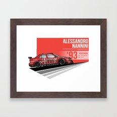 Alessandro Nanni - 1993 Hockenheim Framed Art Print