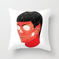 Red Vulcan Throw Pillow