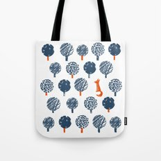 Lost in the Woods ( a Fox adventure) Tote Bag