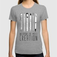 Weapons Of Mass Creation Womens Fitted Tee Tri-Grey SMALL