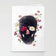 Skull Grunge Flower Stationery Cards
