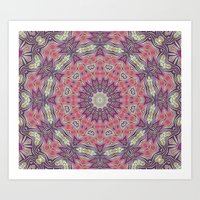 Gypsy Medallion Grape Art Print