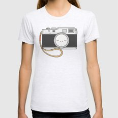 Camera Womens Fitted Tee Ash Grey SMALL