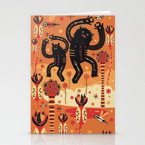 Les danses de Mars Stationery Card