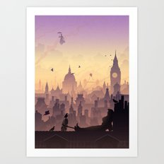 Wind's In The East... Art Print