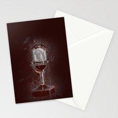 DARK MICROPHONE Stationery Cards