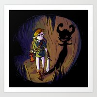 Link And The Imp Art Print