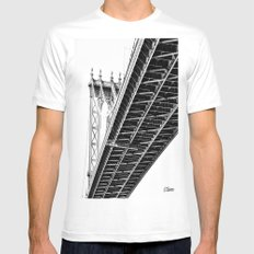 over, under SMALL White Mens Fitted Tee