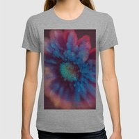 Crystalized Daisy Womens Fitted Tee Athletic Grey SMALL