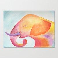 Cheerful Elephant v.1 Canvas Print