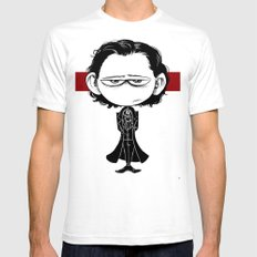 Little Sir Thomas Sharpe SMALL Mens Fitted Tee White