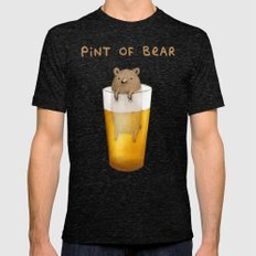 Pint of Bear Mens Fitted Tee Tri-Black SMALL