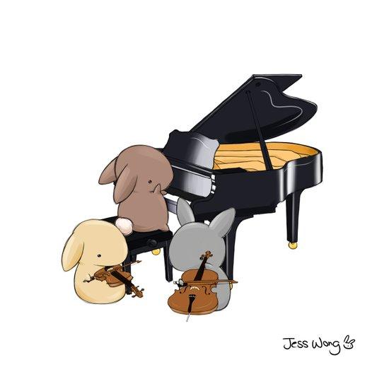 Bunny Trio Art Print
