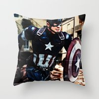The Captain Throw Pillow