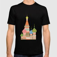 Moscow Mens Fitted Tee Black SMALL
