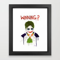 The new joker? Framed Art Print