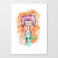 La Chica Altavoz Canvas Print