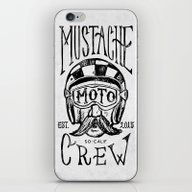 Mustache Moto Crew iPhone & iPod Skin