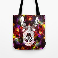 Wonky Donkey Flower  Tote Bag