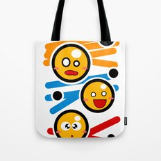 happy smiley trio Tote Bag