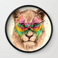 Lioness II Wall Clock