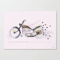 moto flower Canvas Print