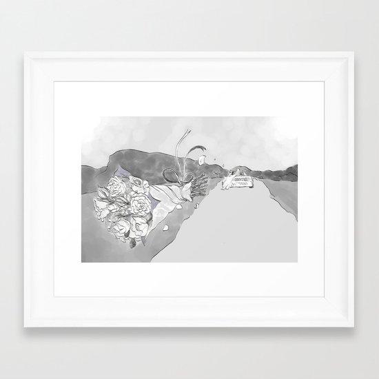 """White Women"" by Virginia McCarthy Framed Art Print"