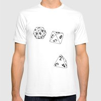 Dungeons and Dragons Dice Mens Fitted Tee White SMALL