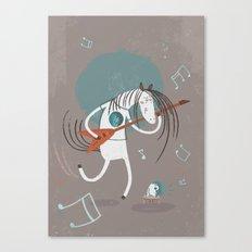 ANALOG ZINE-ROCK N ROLL Canvas Print