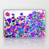 Flower Fields Blue Laptop & iPad Skin