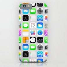 Phone Apps (Flat design) iPhone 6 Slim Case
